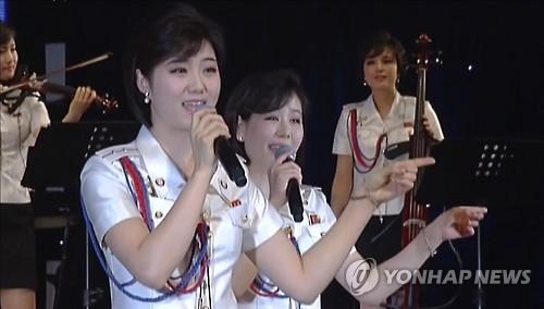 2016년 북한 모란봉악단 공연 모습