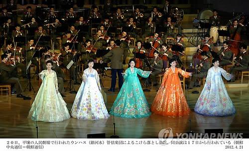 2012년 은하수관현악단 공연 모습