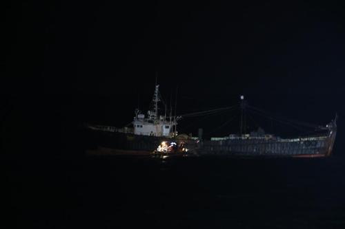 서귀포 남쪽 해상서 화재 발생한 여수 선적 어선