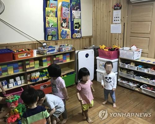 어린이집 공기청정기 [연합뉴스 자료 사진]