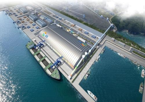 동해항 3단계 석탄부두 건설공사 조감도