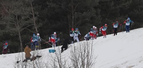 남자 15km+15km 스키애슬론 경기 [신준희 기자]
