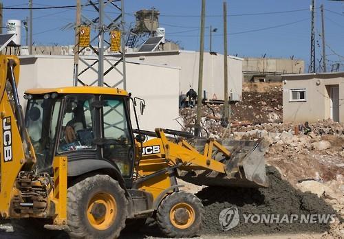 요르단강 서안의 이스라엘정착촌 건설 현장[EPA=연합뉴스 자료사진]
