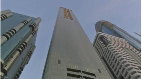 두바이에 12일 새로 문을 연 세계 최고층 게보라호텔[NHK 캡처]