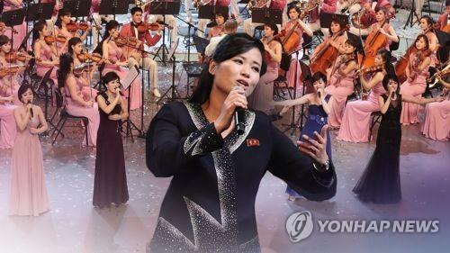 남북 함께 부른 통일 노래…현송월도 마이크 잡아 (CG)