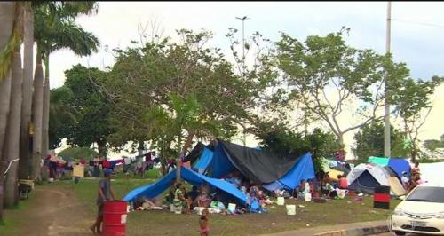 브라질에서 노숙생활을 하는 베네수엘라인들