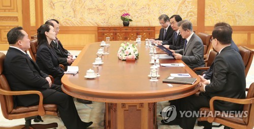 [올림픽] 북 김정은 친서를 읽는 문 대통령