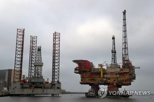 영국 북해의 원유시설