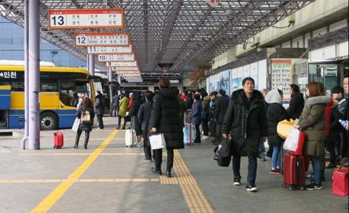 귀성객 붐비는 인천 버스터미널