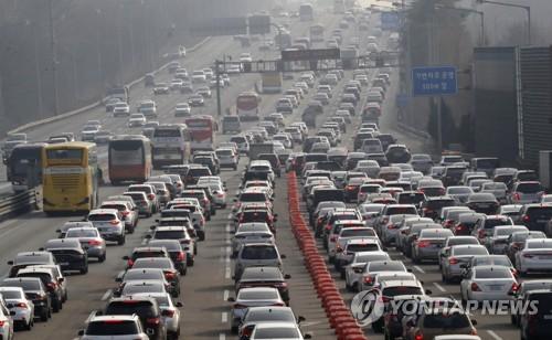 붐비는 고속도로