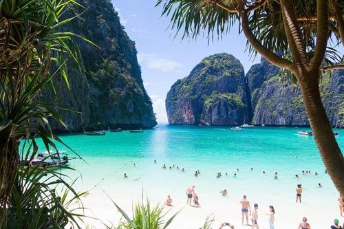 태국 피피섬의 마야베이[사진출처 위키피디아]