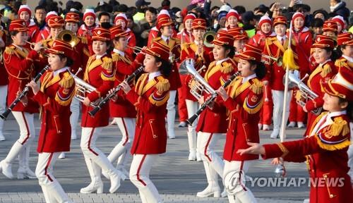 [올림픽] 북 응원단, 강릉 올림픽 파크에서 공연