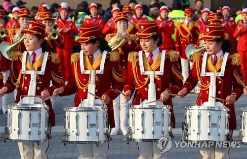 [올림픽] 공연 선보이는 북측 응원단