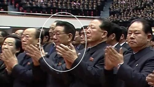 북한 황병서 추정 인물, 공식행사 영상서 포착