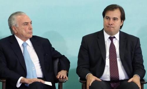테메르 대통령(왼쪽)과 마이아 연방하원의장 [브라질 일간지 글로부]