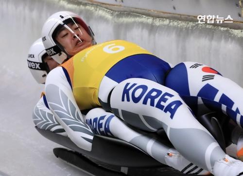 """[올림픽] """"베이징 올림픽서 메달 따겠다""""…루지 조정명·박진용 선수"""