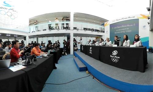 [올림픽] 여자아이스하키 남북 단일팀 기자회견