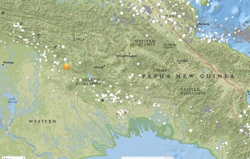 남태평양 파푸아뉴기니서 규모 7.5 지진