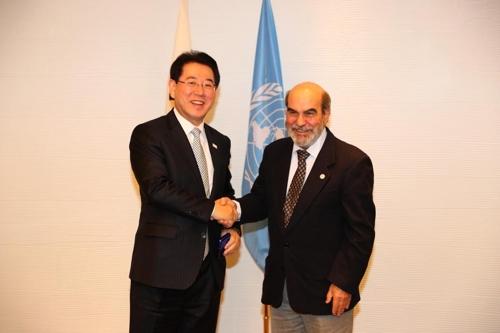 FAO 사무총장과 만난 김영록 농림축산식품부 장관