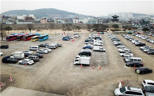 수원 화성 옆 문화관광지구 '영화지구' 모습