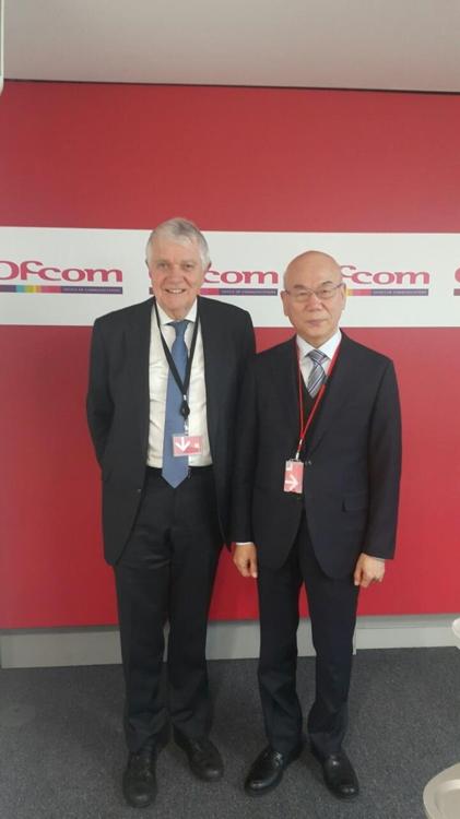 테렌스 번스 ofcom 위원장과 이효성 방통위원장(오른쪽)[방통위 제공]