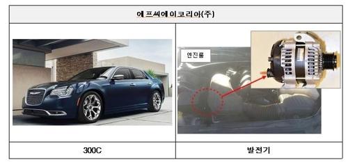 발전기 관련 결함으로 리콜되는 300C [국토교통부 제공=연합뉴스]
