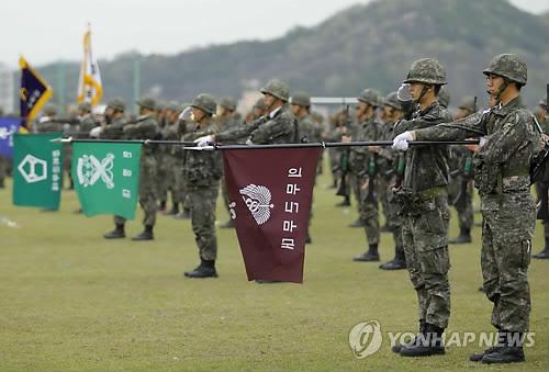 육군 35사단 장병들 [연합뉴스 자료사진]