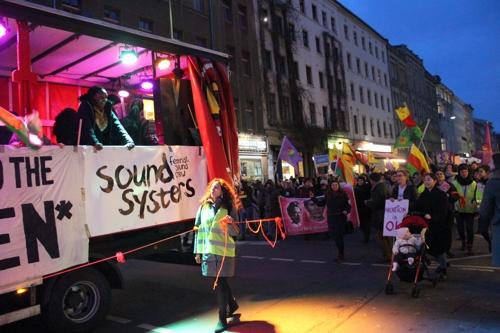 세계 여성의 날을 기념한 베를린에서의 거리 집회 [베를린=연합뉴스]