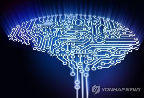 마치 반도체 회로처럼 신경세포망이 촘촘하게 연결된 사람의 뇌를 표현한 그림.