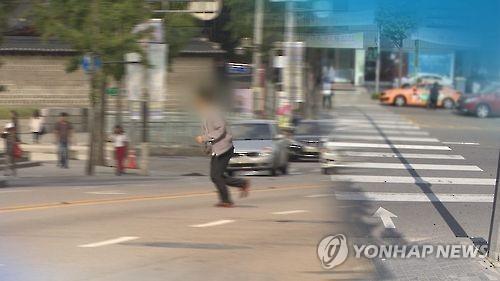 무단횡단 자료 사진[연합뉴스TV 제공]