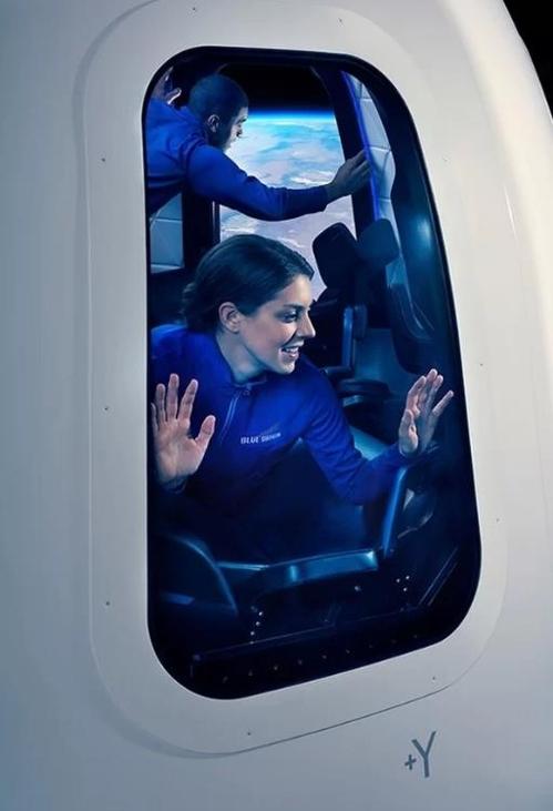 블루 오리진이 공개한 우주캡슐의 대형 창문 [블루 오리진 제공]