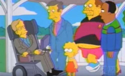 호킹박사를 모델로 한 캐릭터가 등장한 美애니메이션 심슨가족