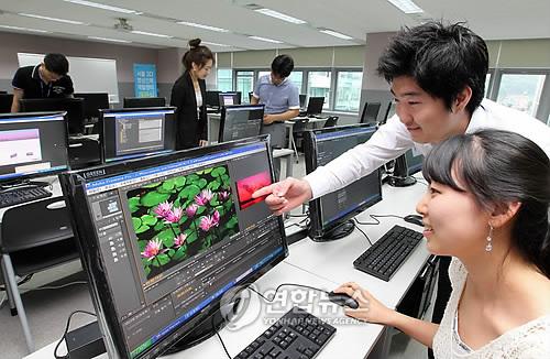 3D 영상인력 연수 과정[연합뉴스 자료사진]