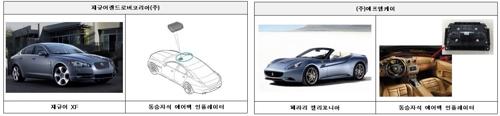 다카타 에어백 장착으로 리콜되는 재규어XF와 페라리 [국토교통부 제공=연합뉴스]