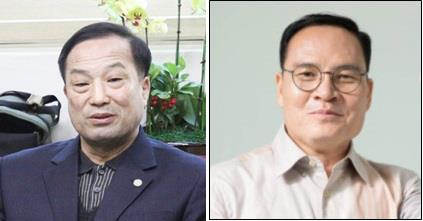 김영만(왼쪽) 군수, 전상인 보좌관