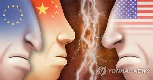 미국ㆍ중국ㆍEU 보복관세, 무역전쟁(PG)[제작 이태호, 최자윤] 일러스트