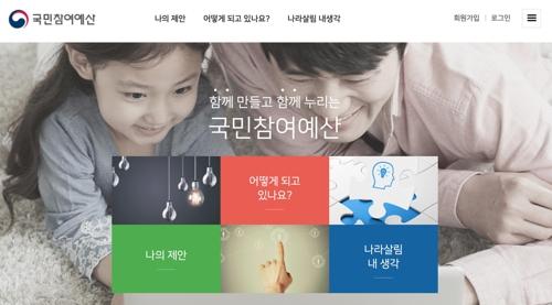 국민참여예산 홈페이지