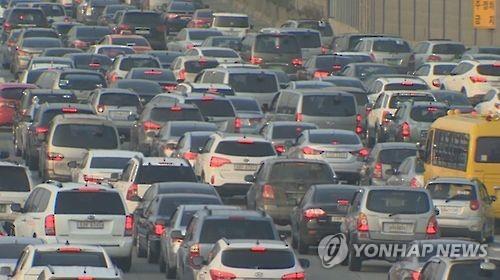 교통 정체 [연합뉴스 자료 사진]