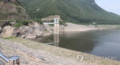 가뭄에 시달리는 보령댐 [연합뉴스 자료사진]