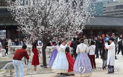 경복궁에 찾아온 봄 [연합뉴스 자료사진]