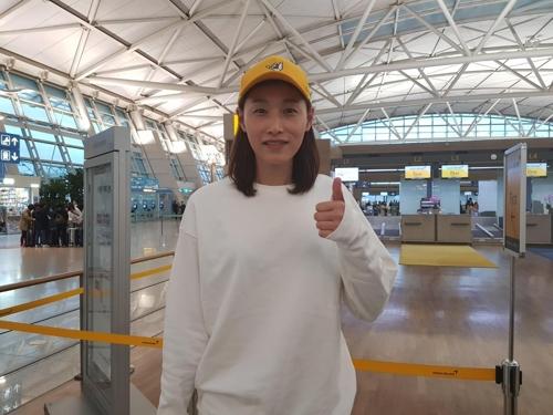 중국 올스타전 참가를 위해 출국하는 김연경