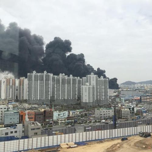 인천 가좌동 공단 화재 [독자 촬영 제공=연합뉴스]