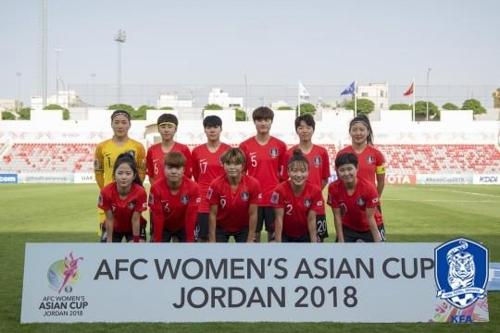 아시안컵에 출전한 여자축구 대표팀 선수들