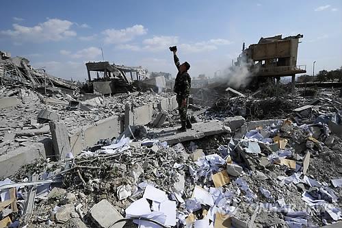 시리아 공습 현장