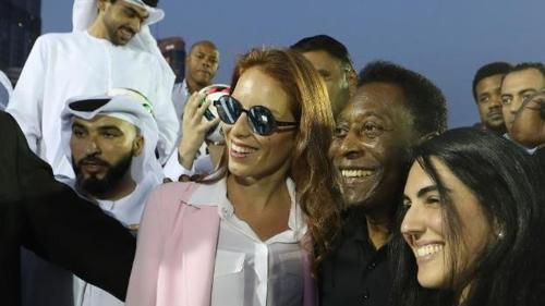 두바이에서 열린 행사에 참석한 펠레