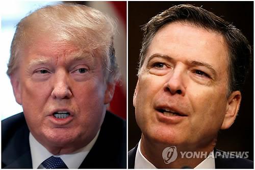트럼프 미국 대통령(좌)과 코미 전 FBI 국장