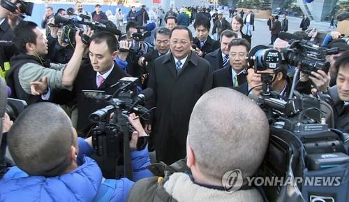 러시아에 도착한 리용호 북한 외무상