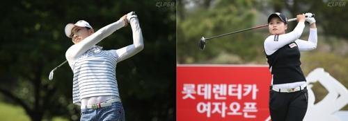 장타 대결을 예고한 김민선(왼쪽)과 최혜진.