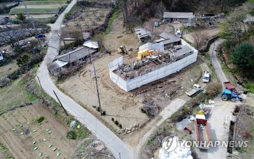 지장물 철거 시작한 원주천 댐 수몰지역