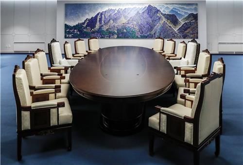 남북 정상회담 테이블  /배재만 기자